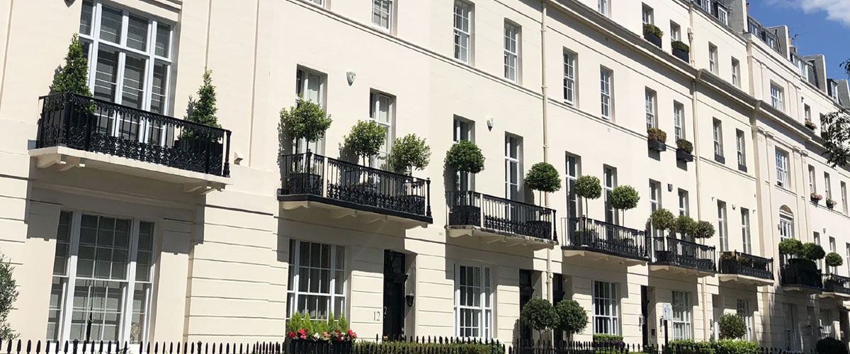 Exterior of an off market property in London