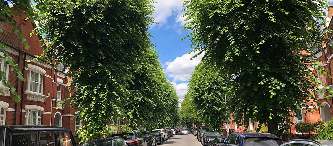 A street popular with London property finders